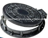 Anti-Theft SMC Composite Manhole Cover with Hinge and Lock