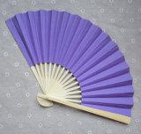 Wholesale Pure Color Folding Paper Hand Held Fan