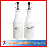 Set of 2PC Ceramic Porcelain Oil Vinegar Bottle