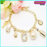 2015 Fashion Custom Wholesale 18k Gold Charm Bracelet