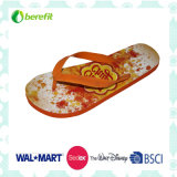 Women′s Slippers with Heat Transfer, PVC Straps
