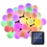 Solar Power LED Ball Christmas Lights 21FT 50 LED Globe String Lights Solar LED Decorative Light for Indoor/Outdoor, Garden, Party