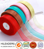 100% Nylon Wired Ribbon Roll Decorative and Gift Ribbon Sheer/Organza Ribbon (RT0003)