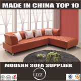 Fashionable Sectional Corner Leather Sofa (Lz5516)
