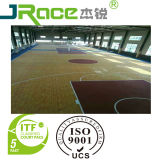 Outdoor & Indoor Wood Grain Spu Sports Court Surface