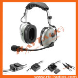 Green Color Aviation Anr Headset with Flexible Boom for General Aircraft