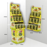 Hot Sale Cardboard Advertising Floor Display Stand for Food Promotion