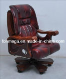 Genuine Leather Movable Conference Chair for Boss, Chairman, CEO Foh-1311