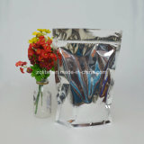 One Side Aluminum and Other Side Transparent Stand up Pouch with Zipper