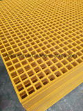 "FRP/GRP Grating, 1-1/2"" Deep X 3/4"" Mini Mesh for Building Material with High Strength"