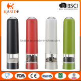 Chromatic Color Plastic Battery Salt Pepper Mill with Light Function