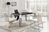 Rectangle Marble Stainless Steel Dining Table