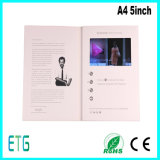 A4 Brochure 5 Inch TFT LCD Video Greeting Card