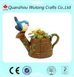 Bird Design Resin Flower Pot Garden Plant Pot Decoration