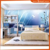 Street Lamp and Birds Cartoon Oil Paiinting for Kid Room