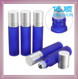 Glass Essential Oil Roll on Perfume Bottle Blue Color