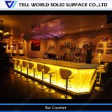 Straw Design Solid Surface Furniture L Shaped Custom Made Bar Counter for Sale