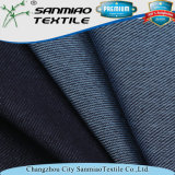 Indigo Wholesale 250GSM Spandex Polyester Knitted Denim Fabric for Garments