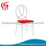 White Colour Chair and Red Cushion Set Chiavari Chair with Garden Furniture Outdoor