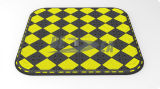 Black & Yellow Rubber Traffic Pedestrian Crossing Island