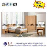 Oak Color Double Bed Modern Bedroom Furniture (SH038#)