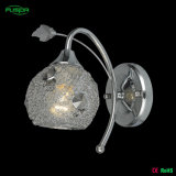 Iron Wall Light with Crystal
