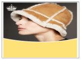 Genuine Sheepskin Fur Caps Fashion Women Hat