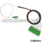 1X8 Fiber Optical PLC Splitter with Mini Steel Tube Package