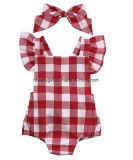 Newborn Infant Baby Girls Clothes Plaids Checks Romper Jumpsuit Bodysuit Outfits Esg10187