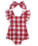 Newborn Infant Baby Girls Clothes Plaids Checks Romper Jumpsuit Bodysuit Outfits Esg10187