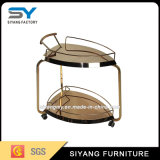 Restaurant Stainless Steel Two Layer Food Trolley
