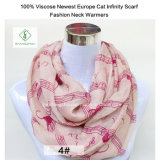 2017 Newest Europe Lady Fashion Infinity Scarf with Musice Note