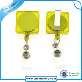 Promotional Square Retractable ID Badge Reel with Alligator Clip