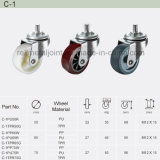 PU Caster Wheel for Industria Shelf / Pipe and Joint System (C-1)