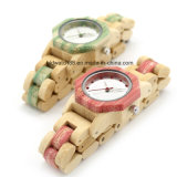 Hot Lady Fashion Octagon Case Wooden Watch with Two Color