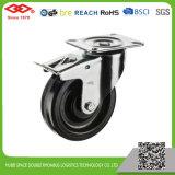 Black Rubber Industrial High Temperature Caster (P102-61C080X35S)