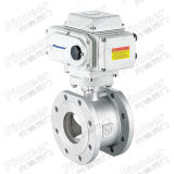 Motorized V-Port Regulating Vacuum Ball Valve
