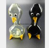 Black, Yellow Ducks Modeling Glass Hookah Tube Oil Tube