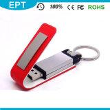 2017 Orange Popular Leather USB Flash Drive with Keychain