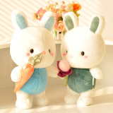 Plush and Stuffed Toy Lovely Rabbit with Red Scarf