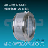 Wafer Type Dual Plate Stainless Steel (CF8, CF8M) Check Valve