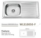 Stainless Kitchen Sink Single Bowl Single Tray Wls10050-F