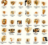 Golden Shadow Fancy Crystal Stones Beads for Jewelry
