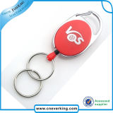 Carabiner Shaped Badge Reel with Double Ring