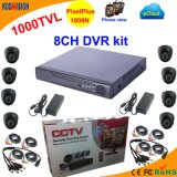 8 Channel DVR Kit with CMOS 1000tvl Dome Camera