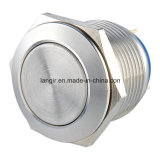 19mm Flat Head Momentary Pin Terminal Stainless Steel Push Button Switch