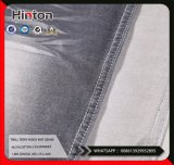 Black Pique Inside Cotton Spandex Knitting Denim Fabric 320GSM