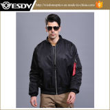 Black Us Pilot Jacket Men Double Sided Wear Waterproof Warm Coat