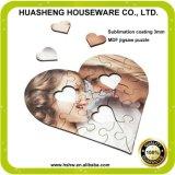 Heart Shape Sublimation Heat Transfer MDF Wooden Blank Jigsaw Puzzle