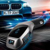 USB Flash Disk FM Transmitter Handsfree TF Card Bluetooth Car Kit Aux Streaming Car Adapter X5 Wireless Bluetooth Car Receiver